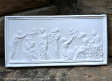 "Load image into Gallery viewer, Roman Greek Thorvaldsen The Ages of Love 1824 Cherub nursery plaque wall relief www.Neo-Mfg.com 10"" e26"