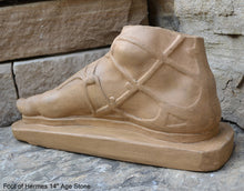 "Load image into Gallery viewer, Roman Greek Foot of Hermes sculpture relief 14"" www.Neo-Mfg.com"