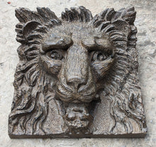 "Load image into Gallery viewer, Lion wood carving design wall Sculpture plaque 19"" www.Neo-Mfg.com Grand size"