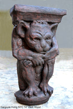 "Load image into Gallery viewer, Gargoyle Irving NYC wall Shelf corbel Grotesque goblin sculpture www.NEO-MFG.com 14"" Medieval"