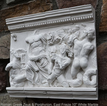 "Load image into Gallery viewer, Roman Greek Zeus & Porphyrion, Gigantomachy Frieze, Pergamon Altar, East Artifact Carved Sculpture Statue 10"" www.Neo-Mfg.com Museum d25"