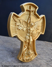 "Load image into Gallery viewer, Historical religious Mythological St. Michael the Archangel wall angel 12"" sculpture plaque Sculpture www.Neo-mfg.com"
