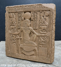"Load image into Gallery viewer, Egyptian HEH God Of Infinity Tutankhamen Fragment Plaque Wall Frieze 11"" www.NEO-MFG.com"