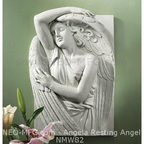 "Angela resting grace wall Art Sculpture Frieze Plaque Home decor 18"" neo-mfg"