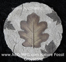 "Load image into Gallery viewer, Nature Fossil LEAF 2pc set wall Art Sculpture Frieze Plaque Home decor 9"" neo-mfg c11"