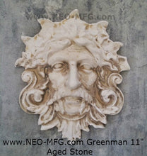 "Load image into Gallery viewer, Nature Garden Greenman Sculpture Plaque 11"" Neo-Mfg"