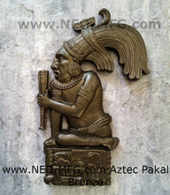 "Load image into Gallery viewer, History Aztec Maya Pakal Sculpture Statue 17"" Tall Wall Neo-Mfg"