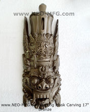 "Load image into Gallery viewer, Bali Barong Artifact Carved Mask Sculpture Statue 17"" Tall Neo-Mfg"
