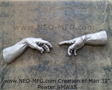Load image into Gallery viewer, Creation of Man 2pc Sculpture Statue White finish Neo-mfg Michelagelo's  Life size