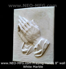 "Load image into Gallery viewer, Religious Praying Hands Father wall art plaque 8"" www.Neo-Mfg.com"
