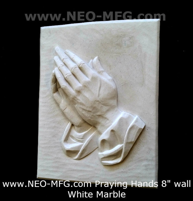 "Religious Praying Hands Father wall art plaque 8"" www.Neo-Mfg.com"