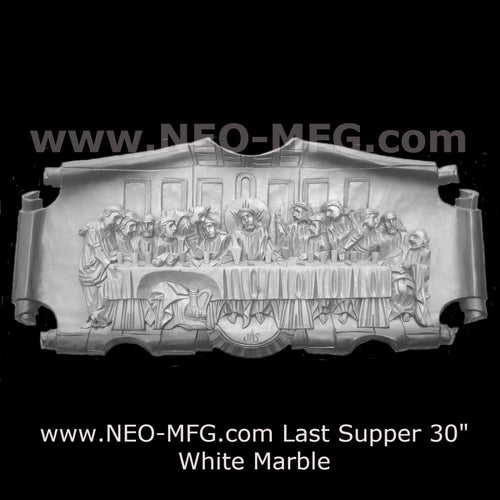 "Religious Last Supper Da Vinci Christ wall art plaque 30"" www.Neo-Mfg.com"