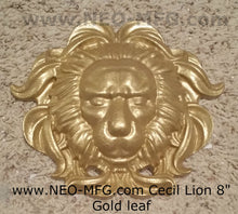 "Load image into Gallery viewer, Cecil African lion memorial wall Sculpture plaque 8"" Tribute www.Neo-Mfg.com"