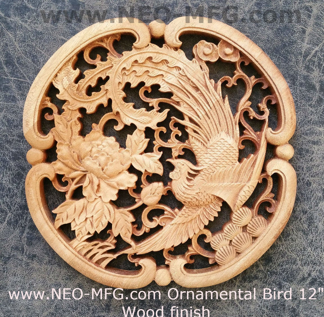 "Animal Ornamental Bird Carved style Sculpture Statue Plaque 12"" www.Neo-Mfg.com c10"