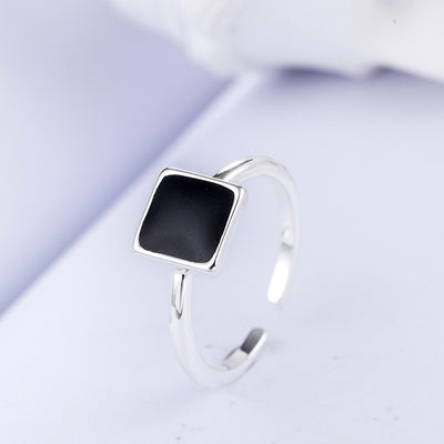 Square Black Ring