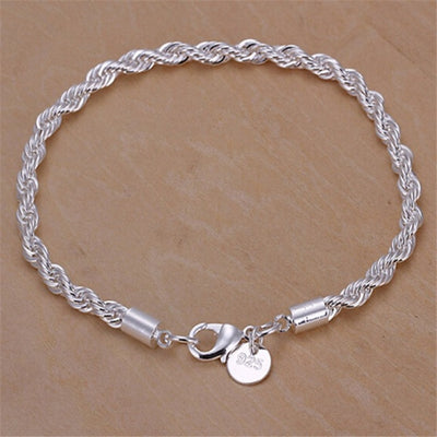 4mm Silver Plated Jewelry Bracelet