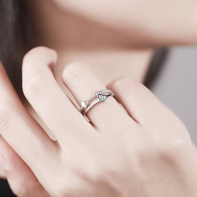 Love Two Heart Ring