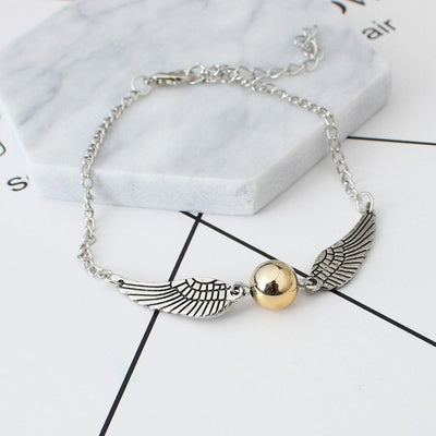 Golden Snitch Vintage Retro Wings Bracelet