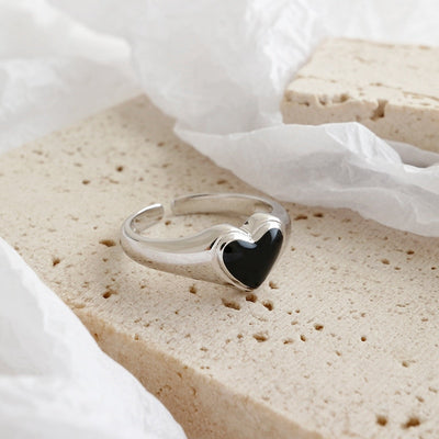 Black Heart Love Ring