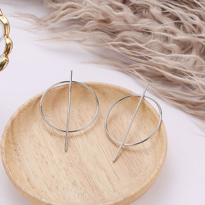 Exaggerated Big Round Earrings