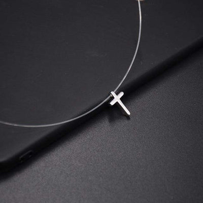 Renevatio Online 9-Cross Transparent Fishing Line Invisible Chain Necklace