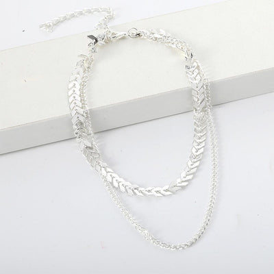 Renevatio Online Chain Choker Two Layers Necklaces
