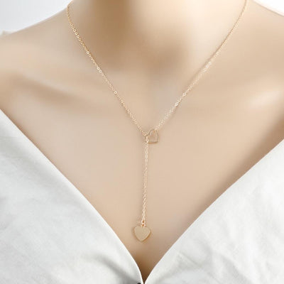 Renevatio Online Copper heart chain link necklace