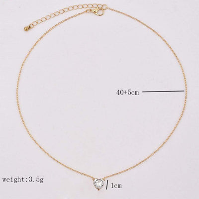Renevatio Online Fashion Crystal Heart Necklace