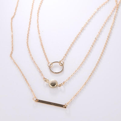 Renevatio Online Geometric Round Chokers Multilayer Necklaces