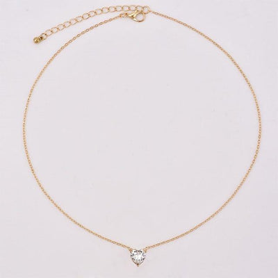 Renevatio Online Gold Fashion Crystal Heart Necklace