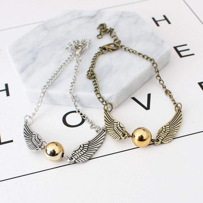 Renevatio Online Golden Snitch Vintage Retro Wings Bracelet