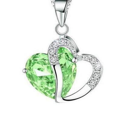Renevatio Online Green Class lady heart pendant necklace