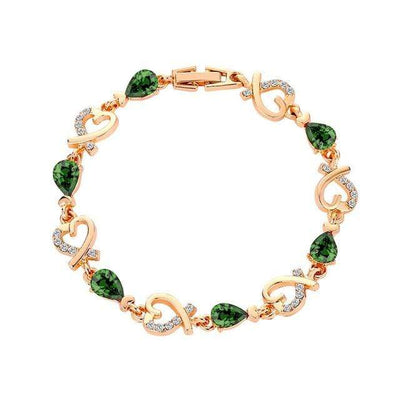Renevatio Online Green Heart Chain Bracelet