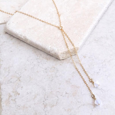 Renevatio Online Long Chain Crystal Choker Necklace