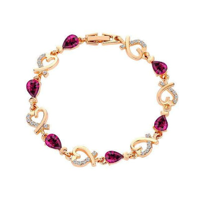 Renevatio Online Purple Heart Chain Bracelet