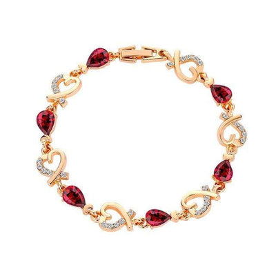 Renevatio Online Red Heart Chain Bracelet
