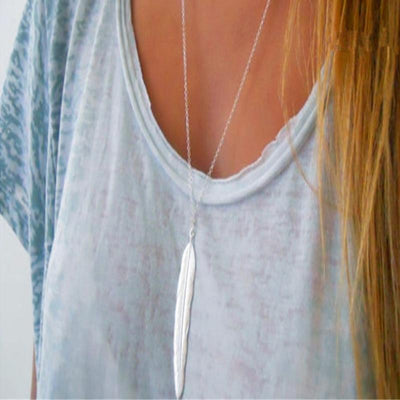 Renevatio Online Simple Feather Pendant Necklaces