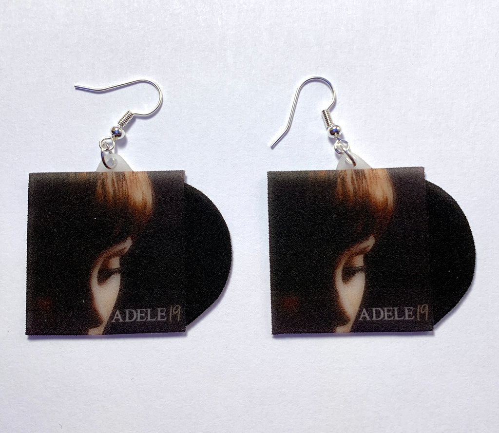 Adele Collection of Vinyl Albums Handmade Earrings!