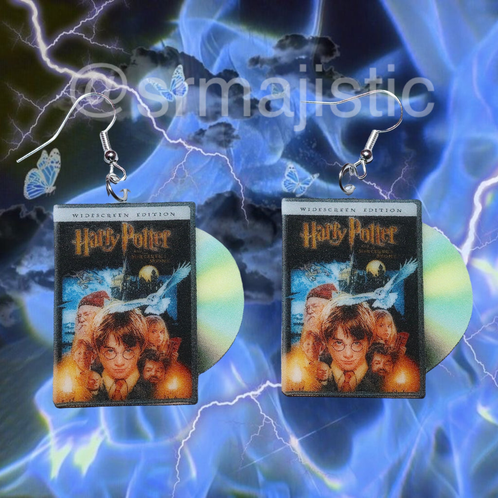 Harry Potter and the Sorcerer's Stone (2001) DVD 2D detailed Handmade Earrings!
