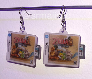 Zelda Spirit Tracks Nintendo DS Game 2D detailed Handmade Earrings!