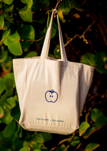 Load image into Gallery viewer, Blue Apple Organic Fair-Trade Cotton Tote Bag