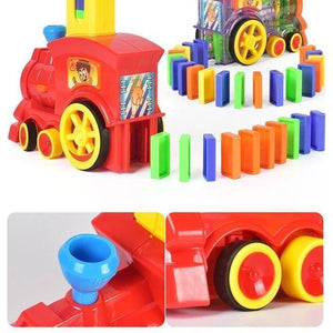 Children's Educational Toys Automatically Start Dominoes Train Set