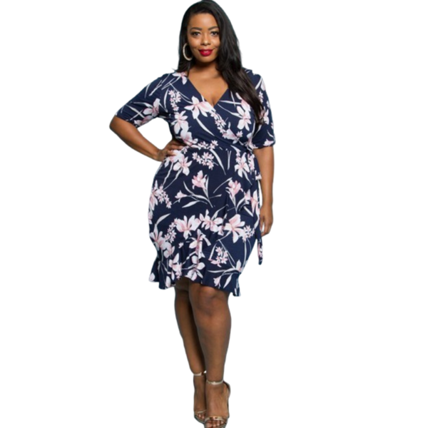 Midnight Floral Wrap Dress
