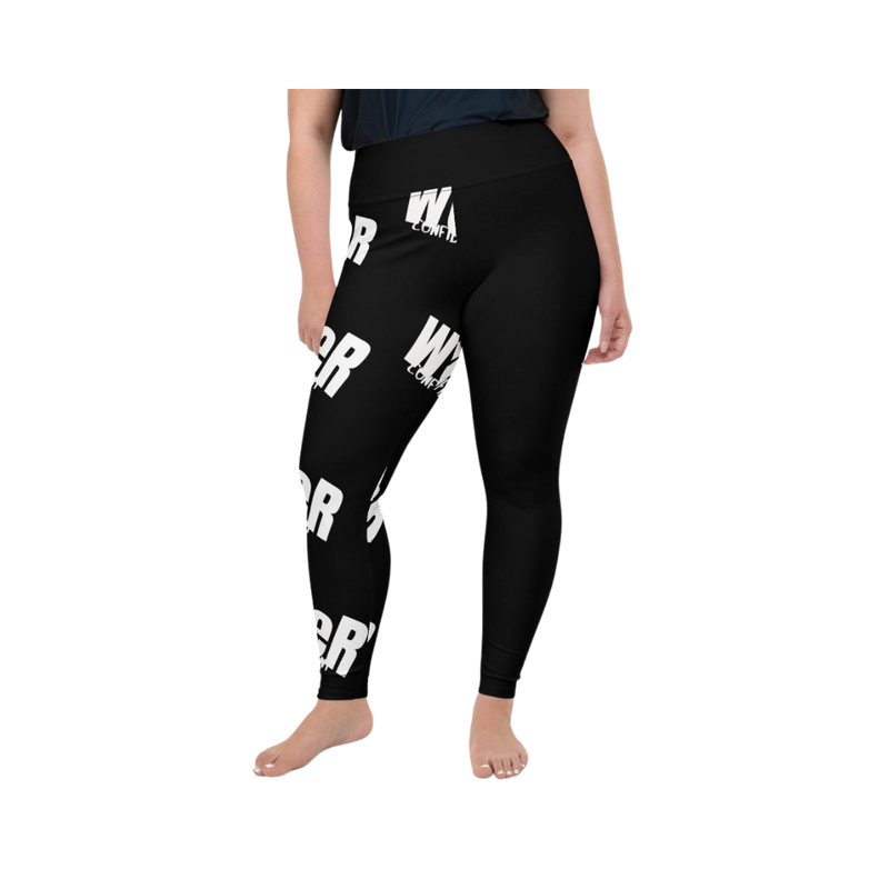 weR Confident Black/White Plus Leggings