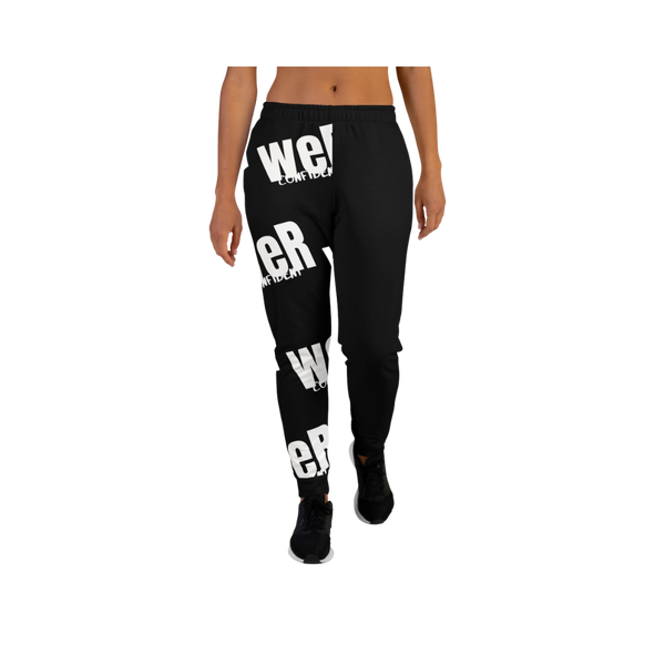 weR Confident Black/White Joggers