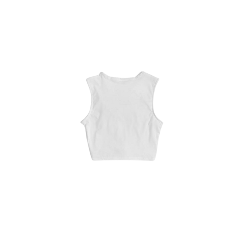 weRConfident White Twisted Tank