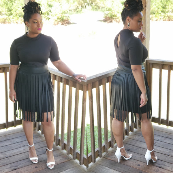 Modern Day Faux Fringe Dress