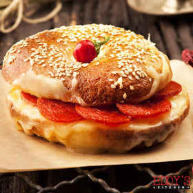 Pepperoni & Cheese Bagel Sandwich