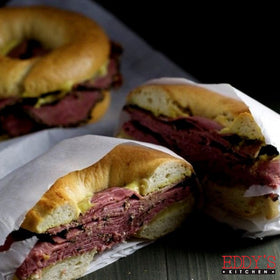 Smoked Beef Bagel Sandwich
