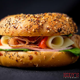 Smoked Turkey & Cheese Bagel Sandwich